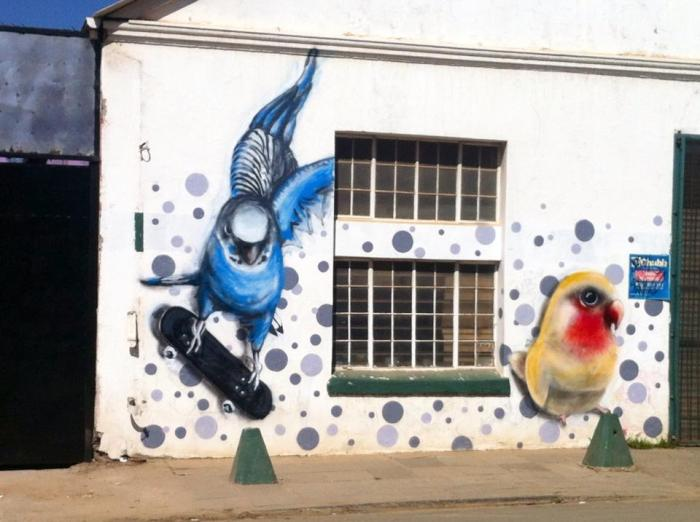 This bird-feed granary allowed artists to paint on their walls if they depicted birds.