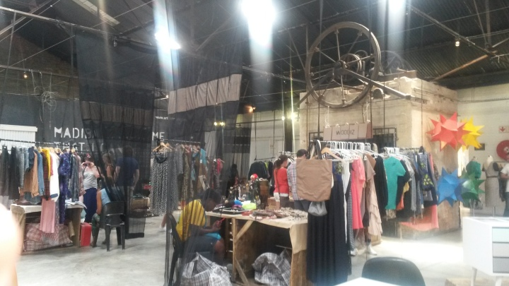 Clothes on the upper level