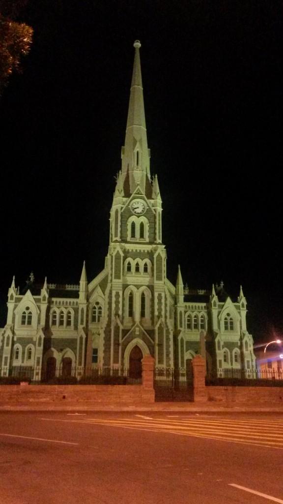 The beautiful church at night