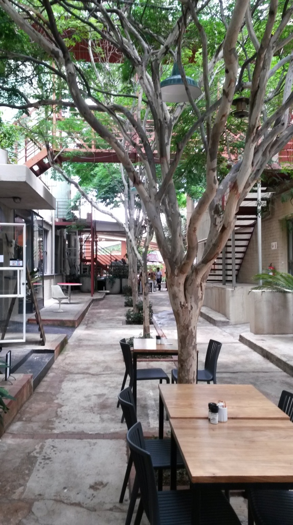 Tree-line courtyard
