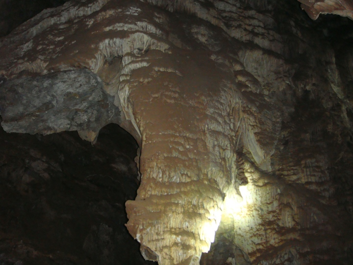 Stalactite inside the cave