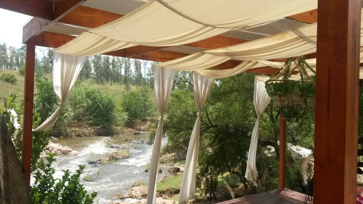 A gazebo overlooking the Crocodile river
