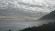 Driving along misty roads of Chapman's Peak