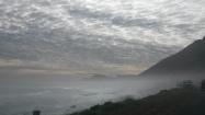 Driving along misty roads of Chapman's Peak