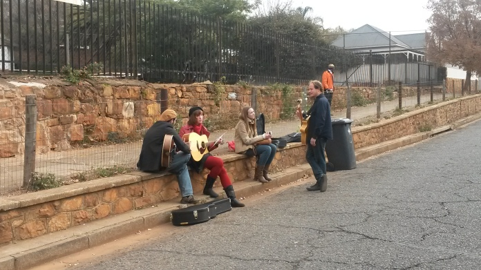 Musicians practising together