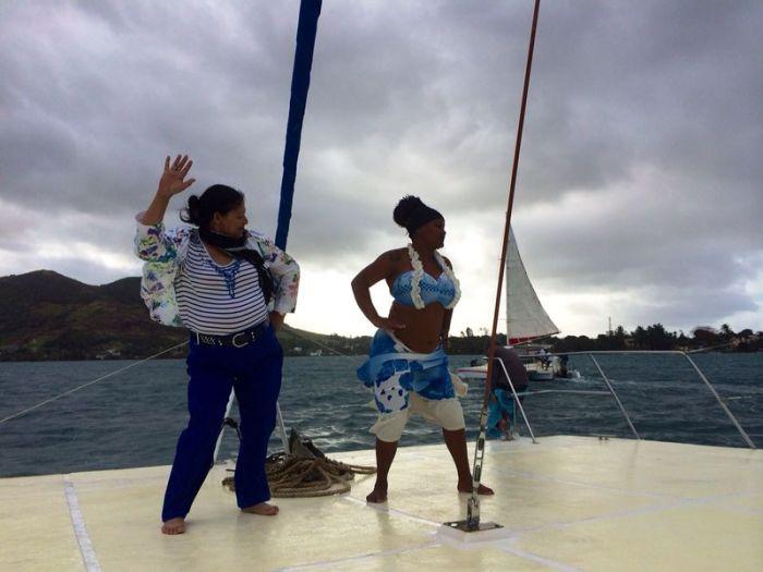 Sega dance on the catamaran!
