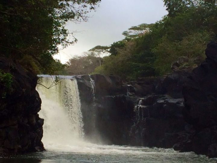 The small waterfall we visited on our way back from Iles aux Cerfs
