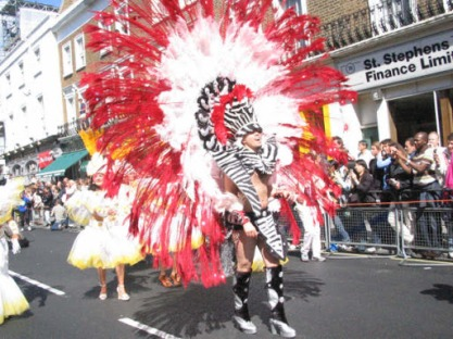 People participating in a parade