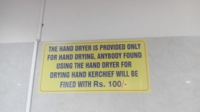A sign in a mall in India