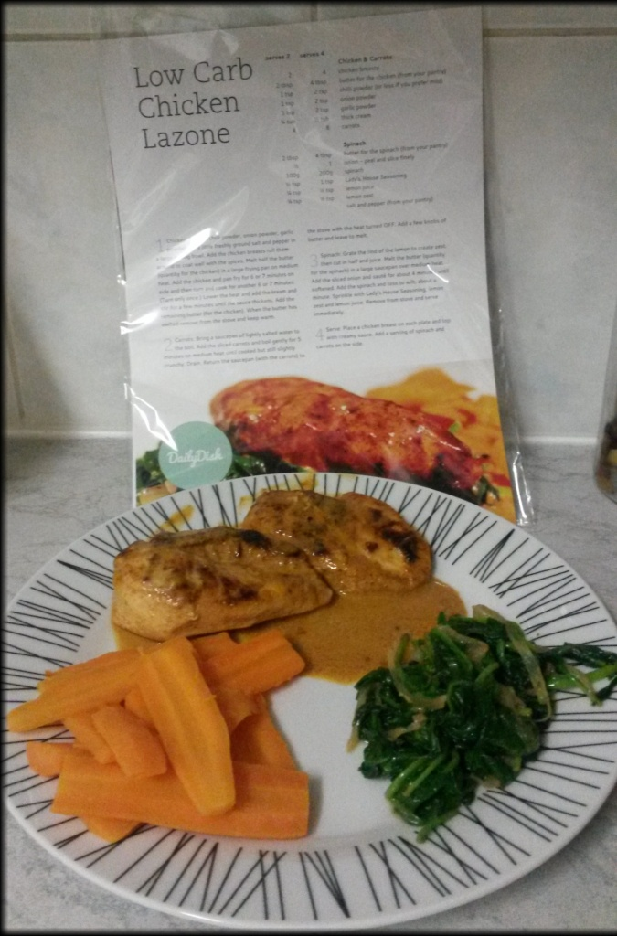 Low carb chicken lazone