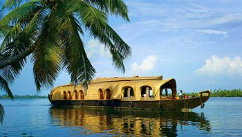 House boat in the backwaters