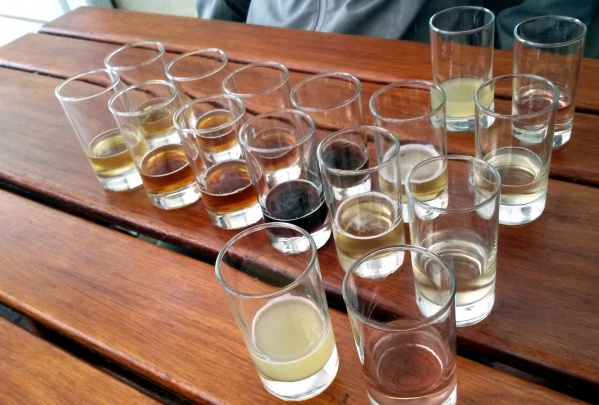 The free tasting at the brewery