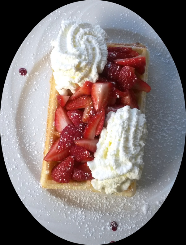 Strawberry & Cream waffle