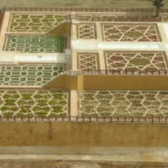 Patterns in a courtyard