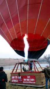 The balloon almost ready
