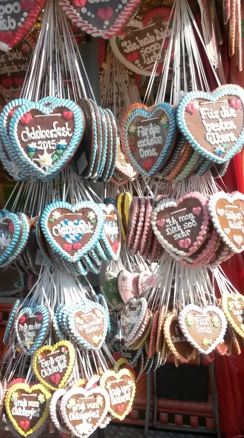 Ginger bread hearts - traditional eats at the Oktoberfest