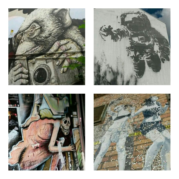 Some of the street art and graffiti