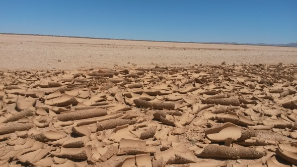 Parched earth on our way to Luderitz